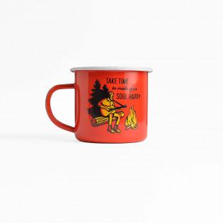 Чашка Take a time to make your soul happy червона