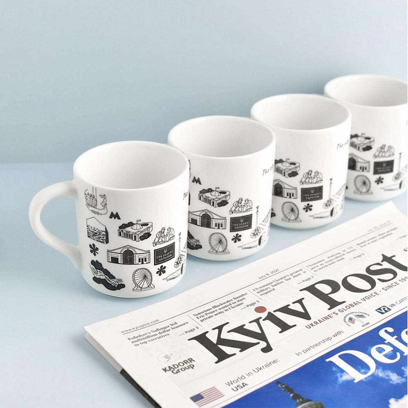 Чашка Знаковий Київ біла